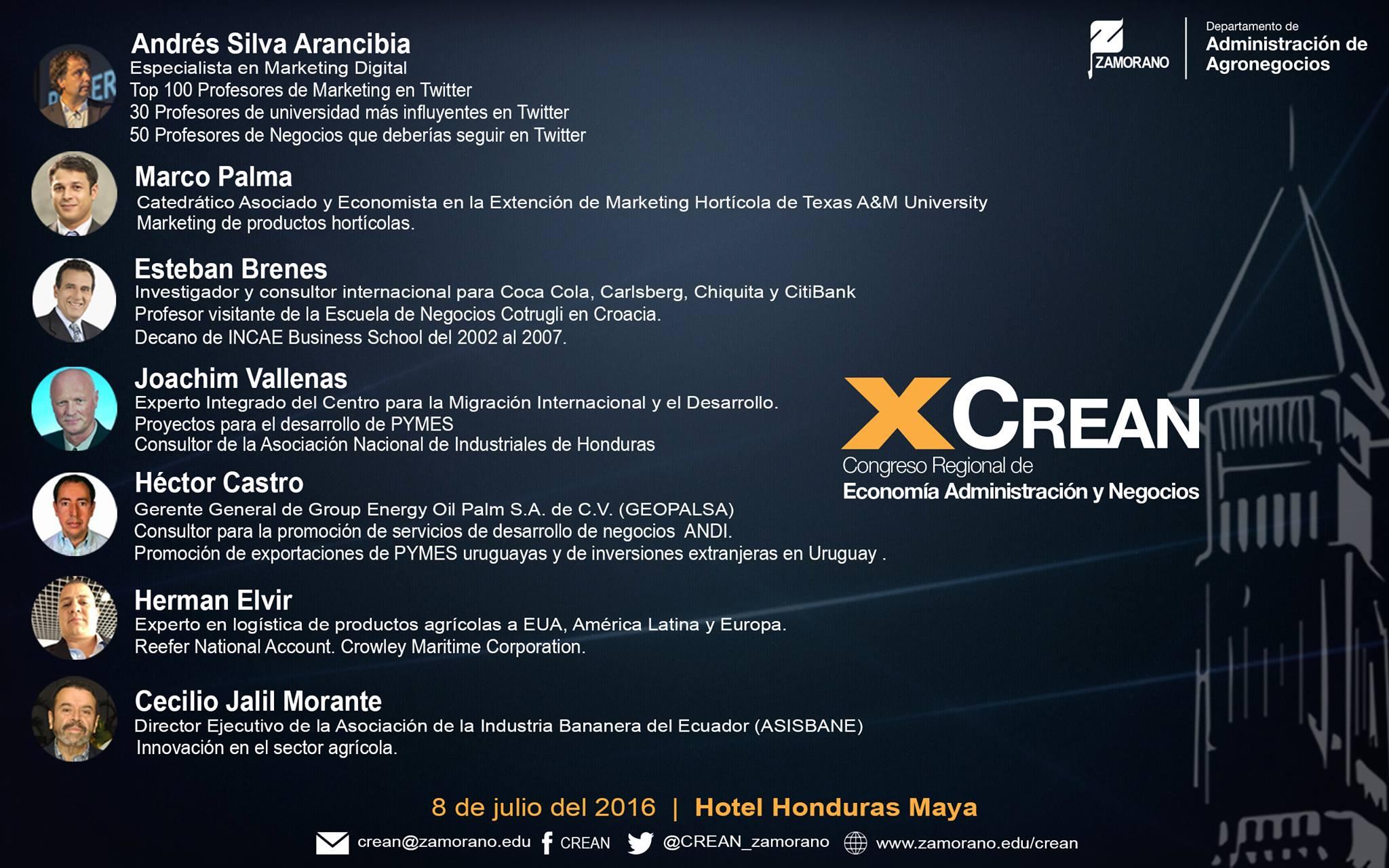 CREAN Tegucigalpa Honduras 2016 Andrés Silva Arancibia Speaker