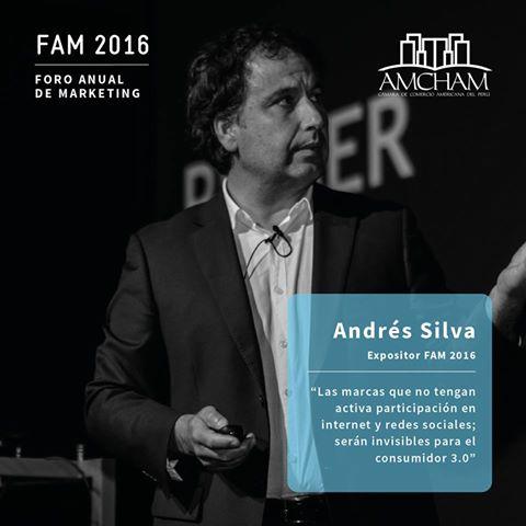 Andrés Silva Arancibia Foro Anual de Marketing 2016 FAM 2016 lima perú