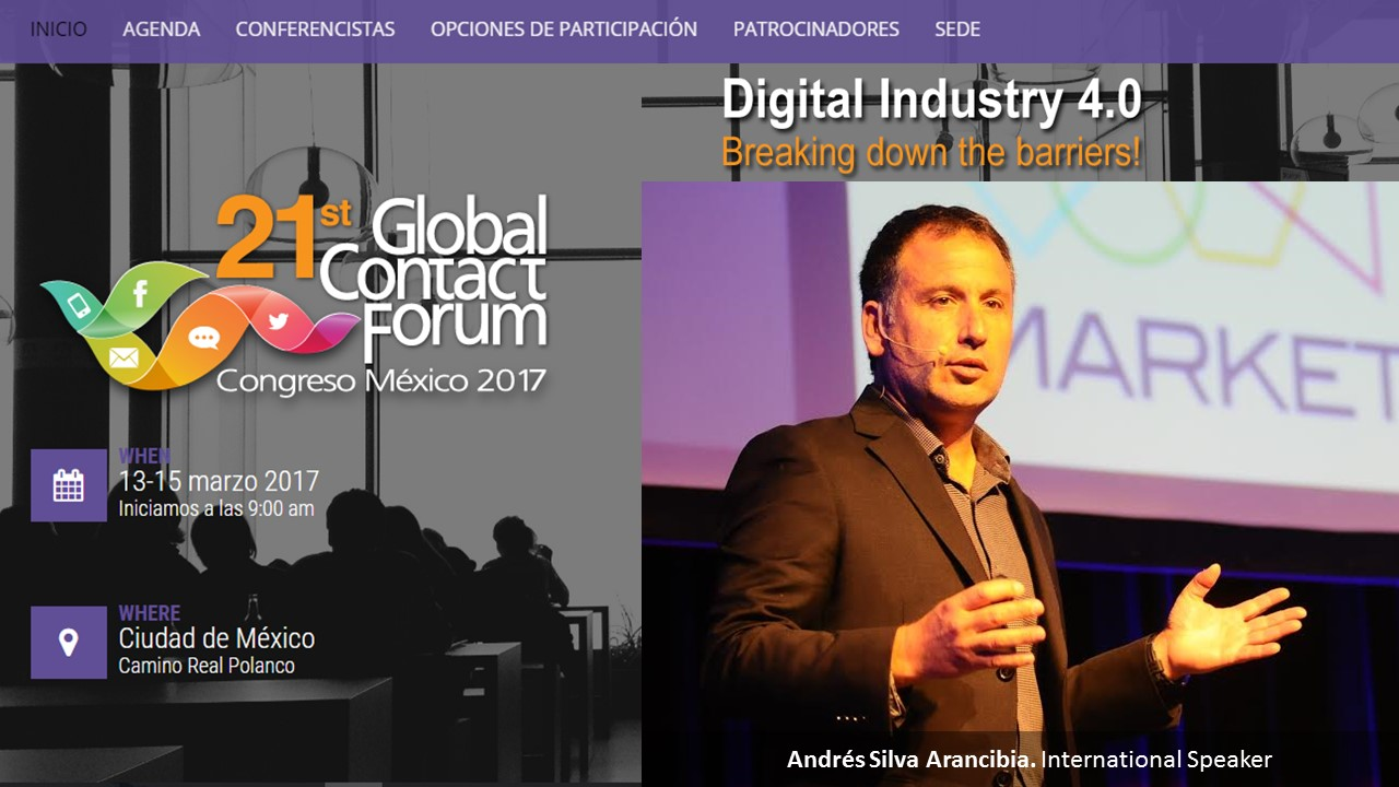 andres silva arancibia, global forum, mexico, 2016, Marketing, Contact Center, CRM, Seminarios