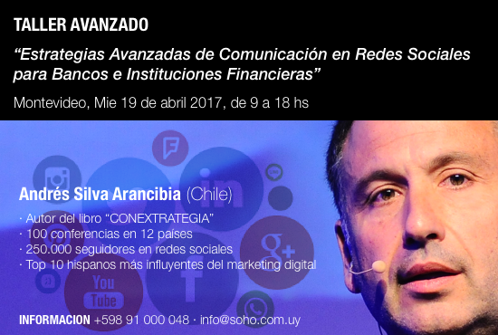 workshop internacional marketing digital, bancos, montevideo, andres silva arancibia, charlas, conferencias, seminarios