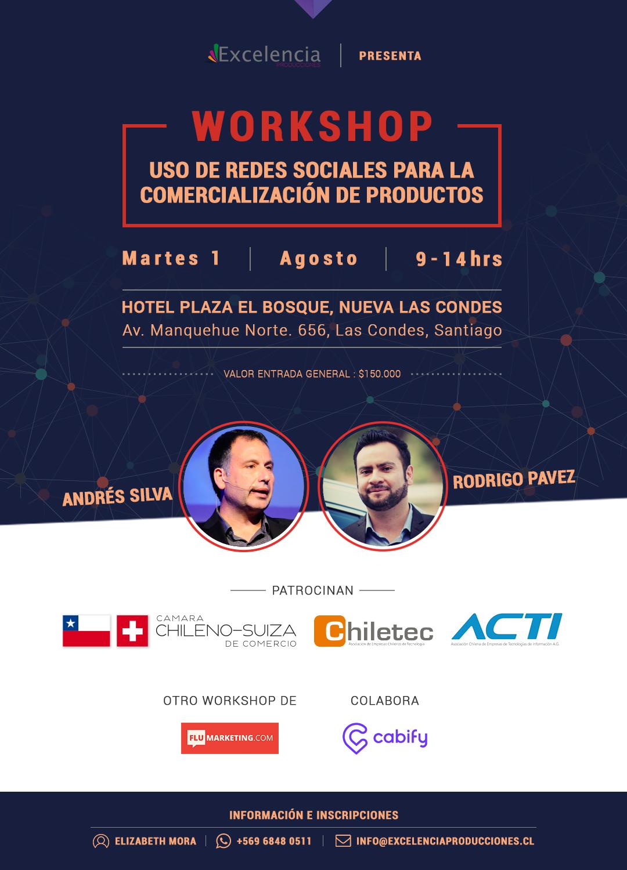 flumarketing, workshop, seminario, acti, cabify, chiletec, camara chileno suiza de comercio, marketing digital, andres silva arancibia, rodrigo pavez